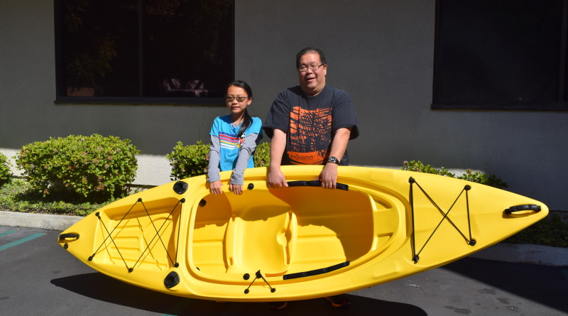 David Ly wins kayak in Fred Hall Show giveaway