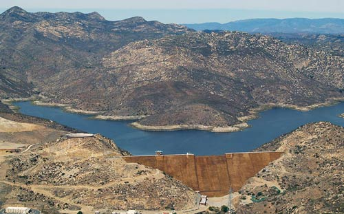 San Vicente Reservoir courtesy SDCWA
