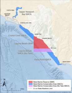 Marine Protected Areas Report - CDFW map